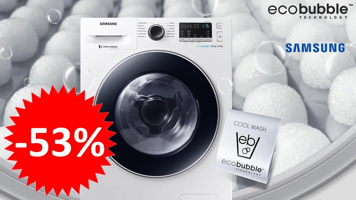 Lavasecadora Samsung Serie 6 EcoBubble.