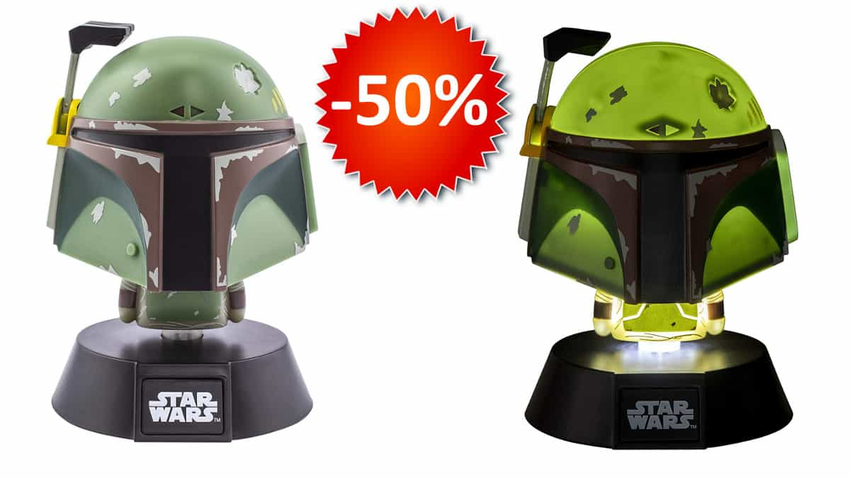 Lámpara 3D Star Wars Boba Fett barata, lámparas baratas, chollo