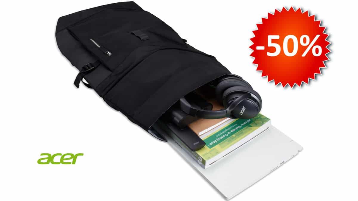 Mochila Acer Rolltop ConceptD barata, mochilas baratas, chollo