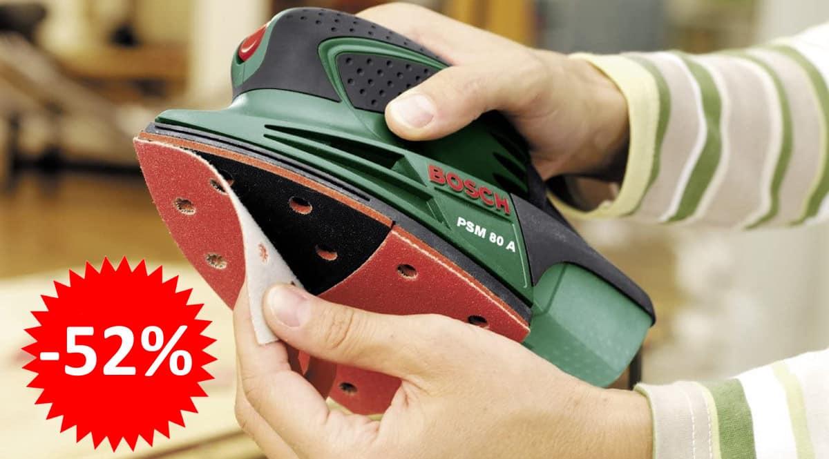 ¡Sólo hoy! Multilijadora Bosch PSM 80 A sólo 32 euros. 52% de descuento.