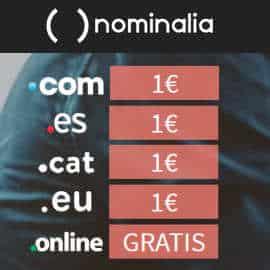 Oferta dominios y alojamientos Nominalia, alojamiento web barato, dominios baratos