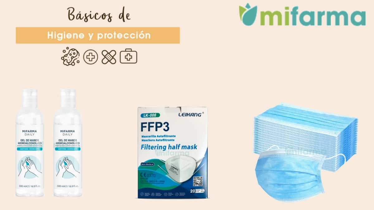 Ofertas artículos anti-covid Mifarma, mascarillas y geles hidroalcohólicos baratos, ofertas farmacia, chollo