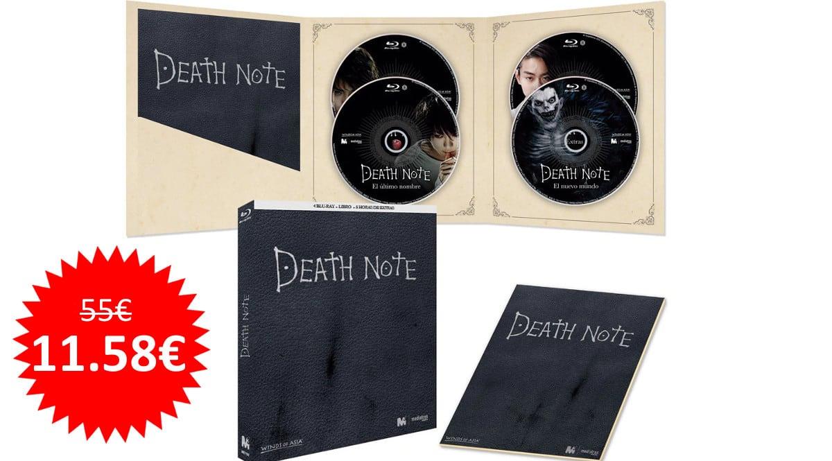 ¡Precio mínimo histórico! Pack Death Note: La Trilogía (Blu-ray + libro) sólo 11.58 euros. 79% de descuento.