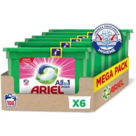 Pack de 108 cápsulas de Ariel Pods All in One Fragancias barato. Ofertas en supermercado