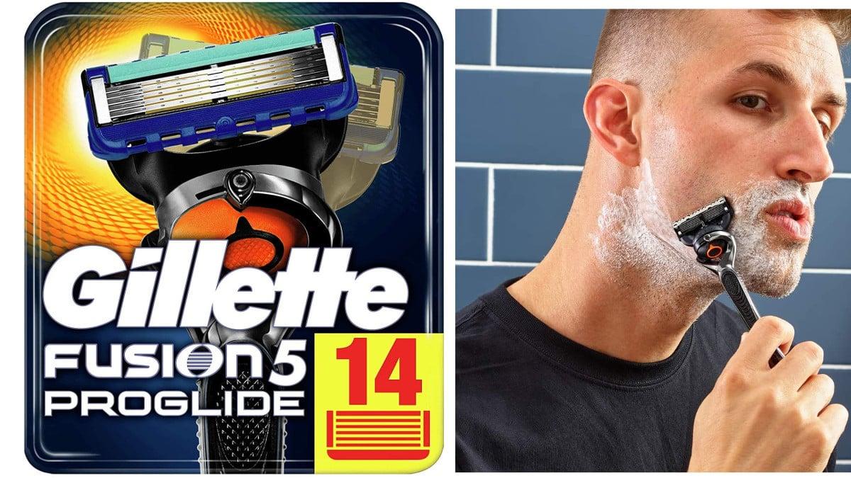Pack-de-14-recambios-de-cuchillas-Gillette-Fusion5-ProGlide-barato-cuchillas-Gillette-baratas-chollo