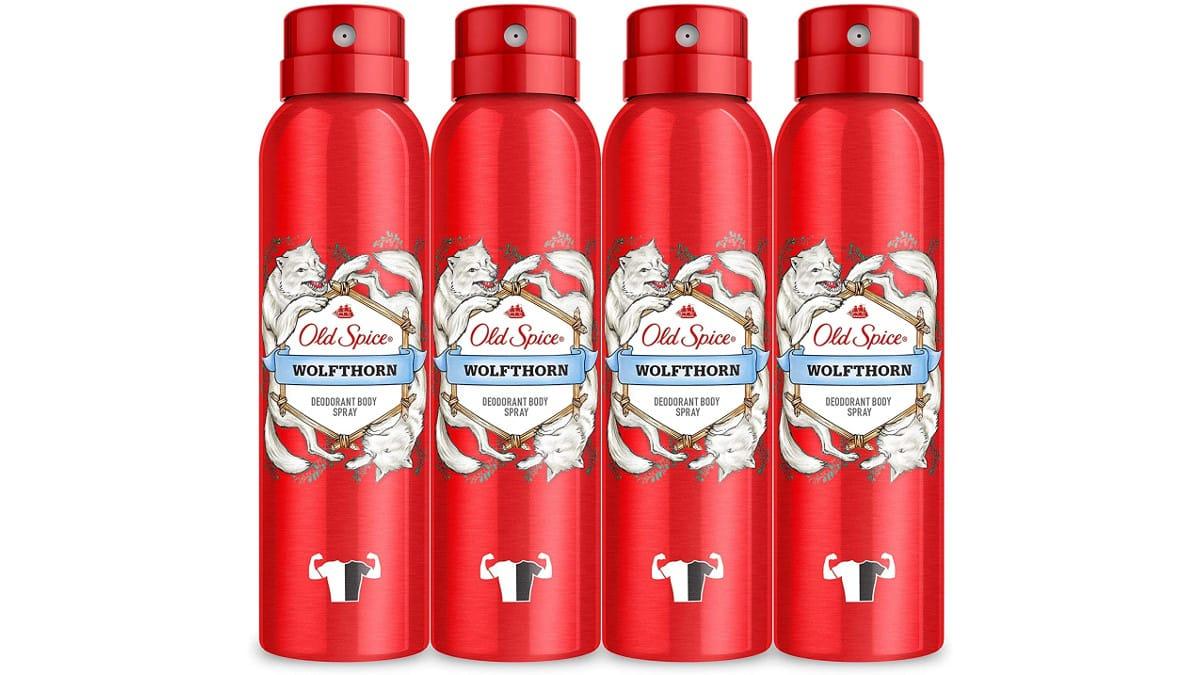 Pack de 4 desodorantes Old Spice Wolfthorn baratos, desodorante barato, chollo