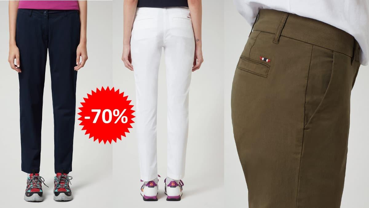 Pantalones chinos Napapijri Meridian baratos, ropa de marca barata, ofertas en pantalones chollo