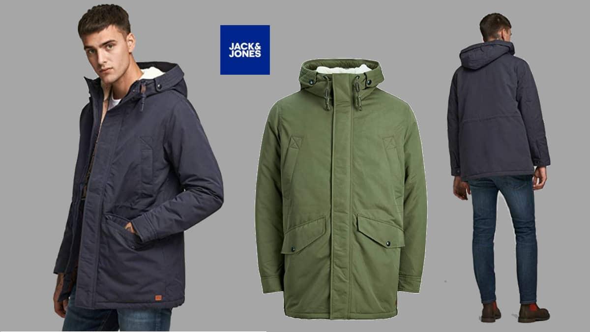 Parka de invierno Jack & Jones Jjewetland barata, cazadoras de marca baratas, ofertas en ropa, chollo