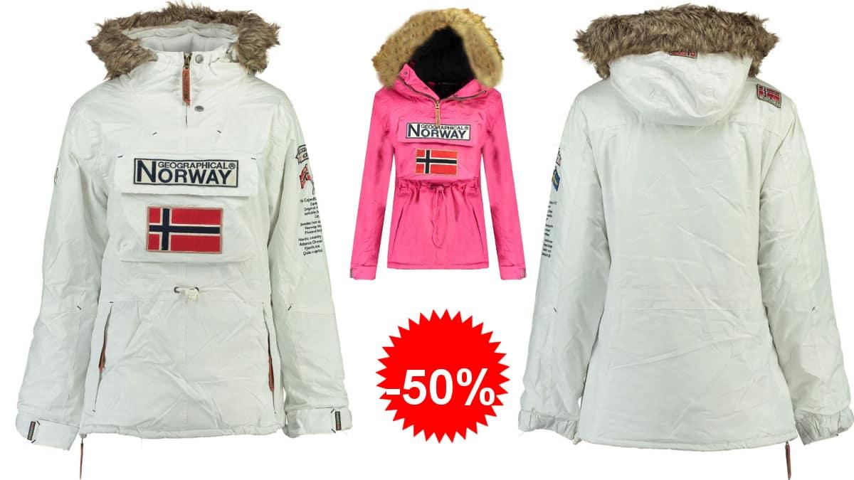 Parka impermeable para niña Geographical Norway Boomera barata, cazadoras de marca baratas, ofertas en ropa para niños, chollo