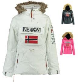 Parka impermeable para niña Geographical Norway Boomera barata, cazadoras de marca baratas, ofertas en ropa para niños