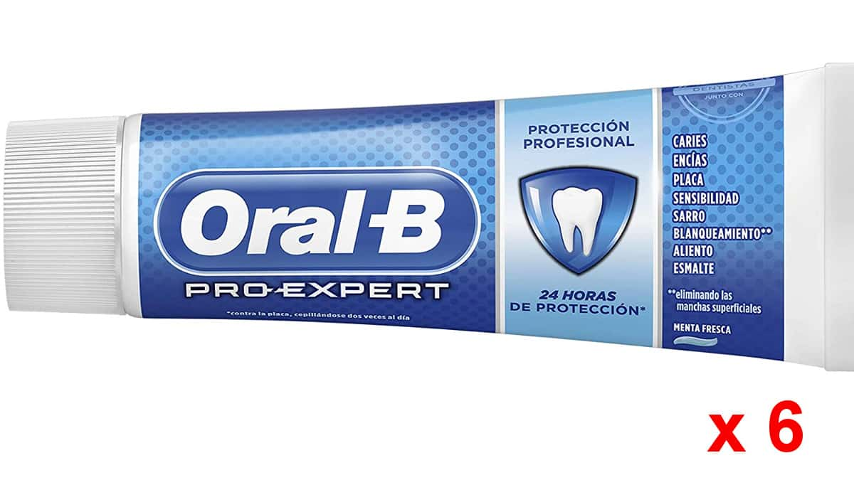 Pasta de dientes Oral B Pro-expert barata, dentífrico de marca barato, ofertas supermercado, chollo