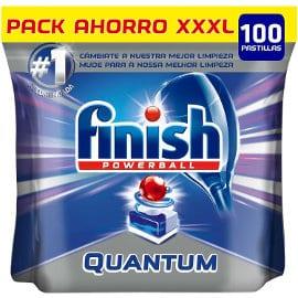 Pastillas de lavavajillas Finish Quantum baratas, lavavajillas de marca barato, ofertas supermercado