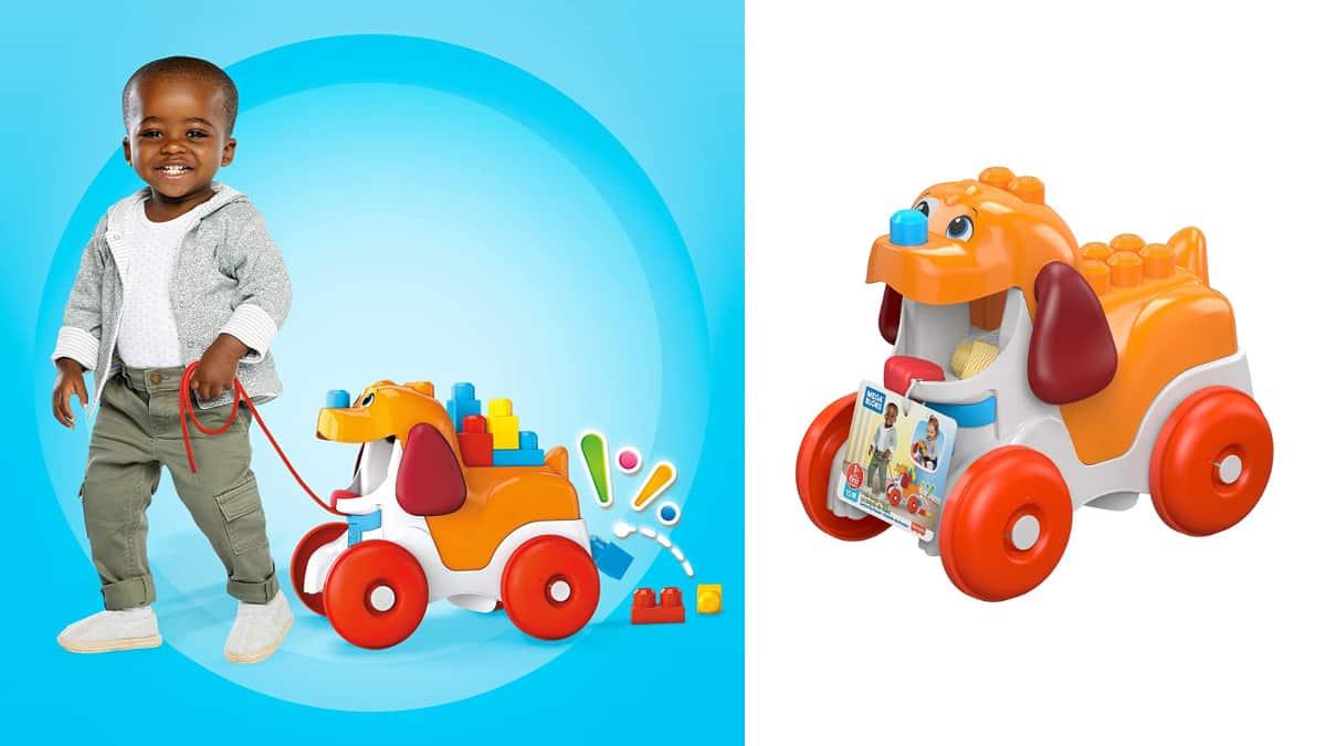 Perrito paseos Mega Blocks barato, juguetes baratos, ofertas para niños, chollo