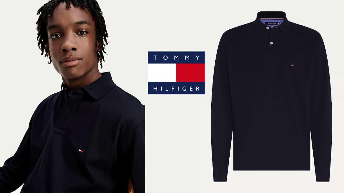 Polo Tommy Hilfiger Tommy Regular barato, polos baratos, ropa de marca barata, chollo