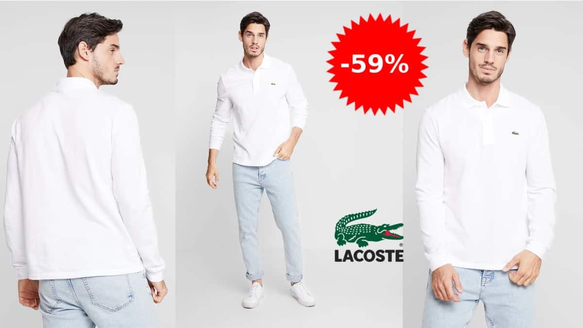 Polo de manga larga Lacoste L1312 barato, polos de marca baratos, ofertas en ropa, chollo