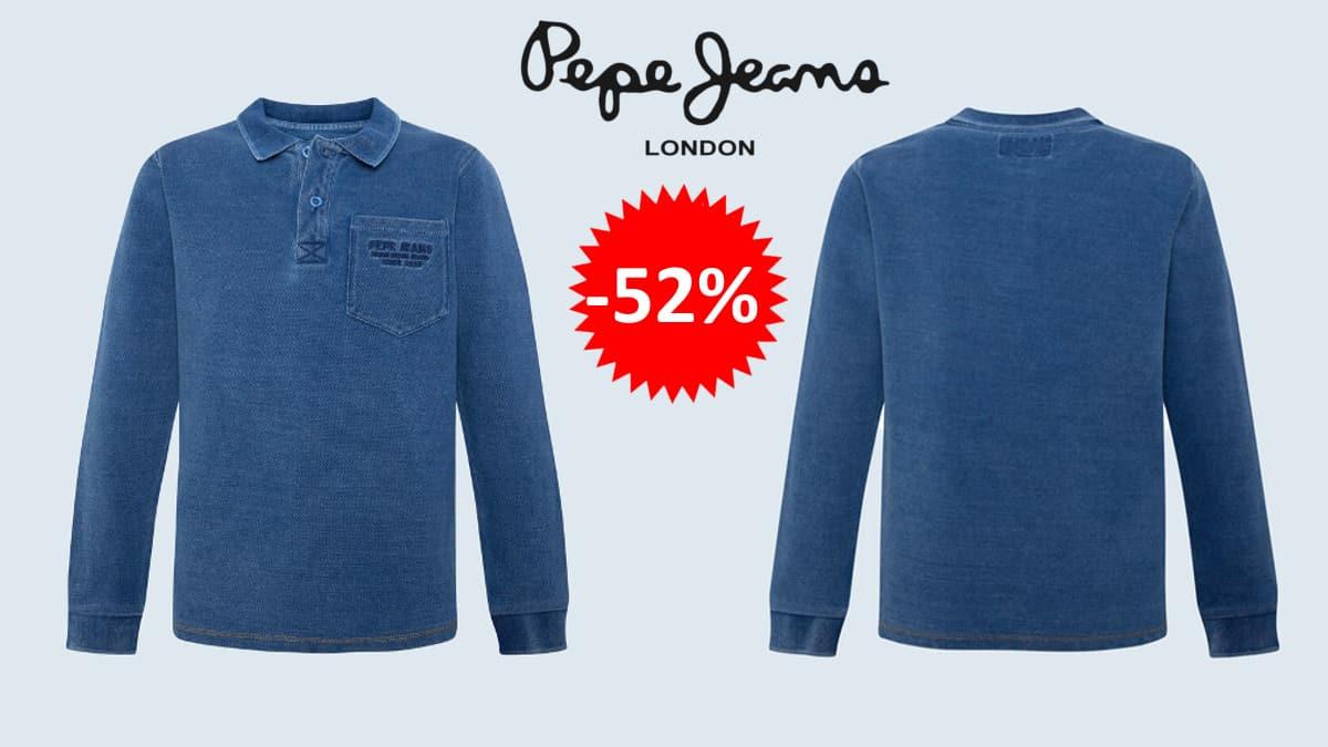 Polo para niño Pepe Jeans indi barato, polos de marca baratos, ofertas en ropa para niño, chollo