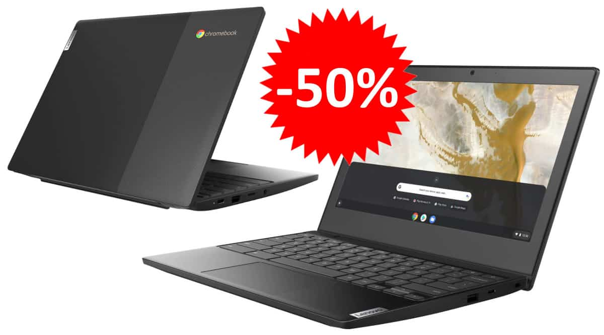 Portátil Lenovo Ideapad 3 Chromebook barato. Ofertas en portátiles, portátiles baratos, chollo