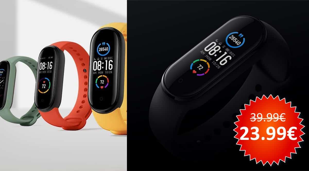¡¡Chollo!! Pulsera de actividad Xiaomi Mi Band 5 sólo 23.99 euros.