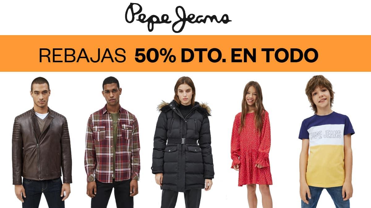 Rebajas en Pepe Jeans, ropa de marca barata, ofertas en calzado chollo