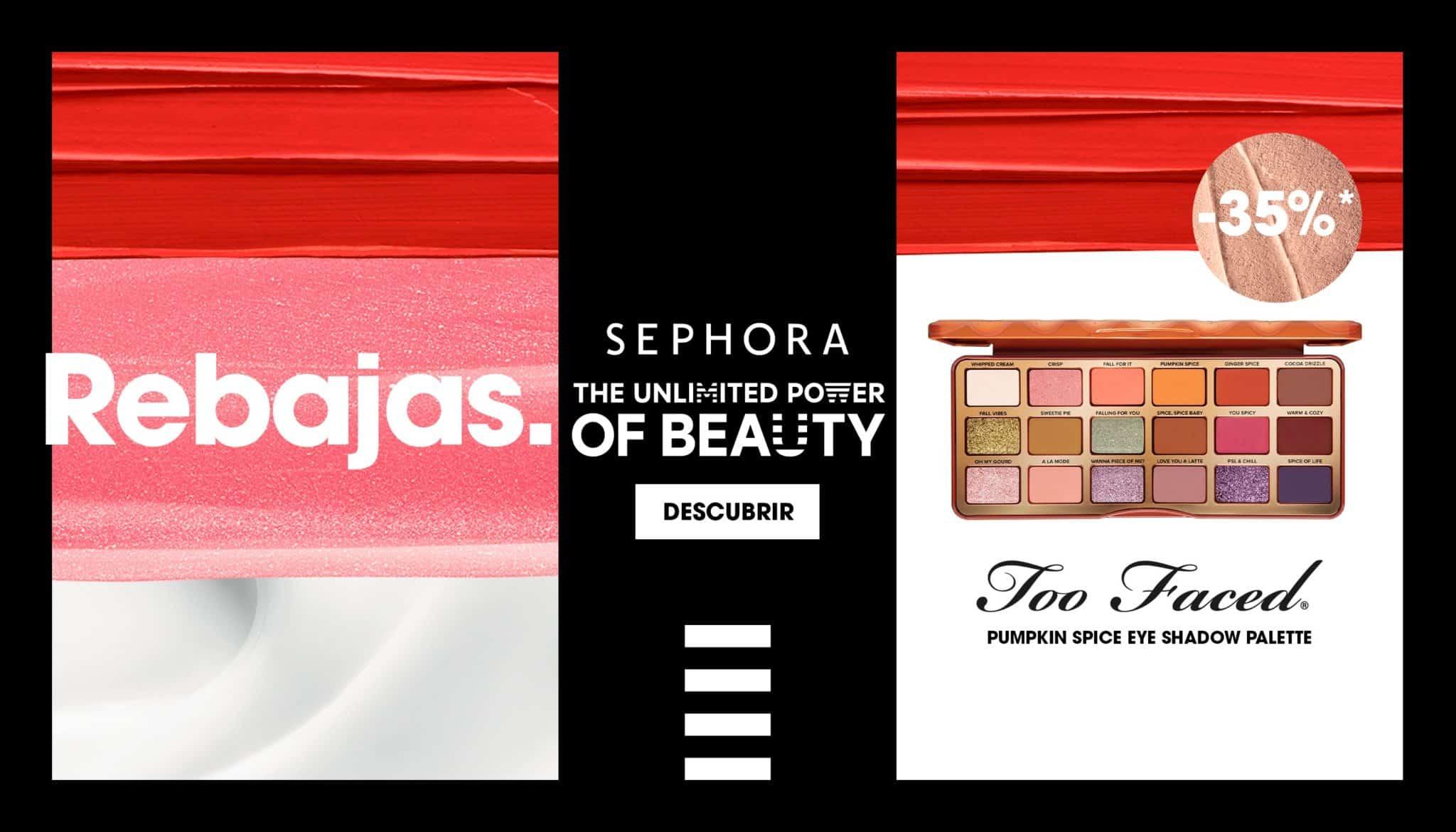 Rebajas en Sephora, maquillaje de marca barato, ofertas en belleza, chollo