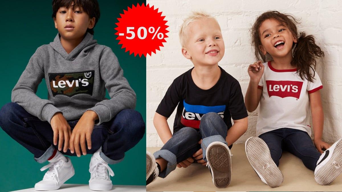 Rebajas en ropa Levi's para niño y niña, ropa de marca barata, ofertas en ropa para niño, chollo
