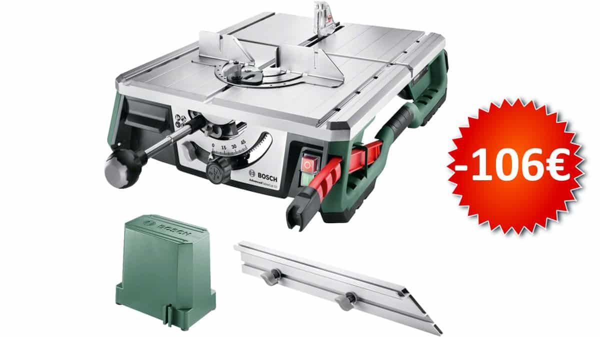 Sierra de mesa Bosch NanoBlade Advanced TableCut 52 barata, herramientas baratas, chollo
