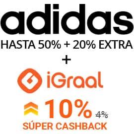 Súper Cashback Adidas, ropa de marca barata, ofertas en calzado