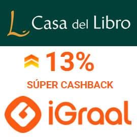 Súper Cashback Casa del Libro con Igraal, libros baratos, ofertas en libros