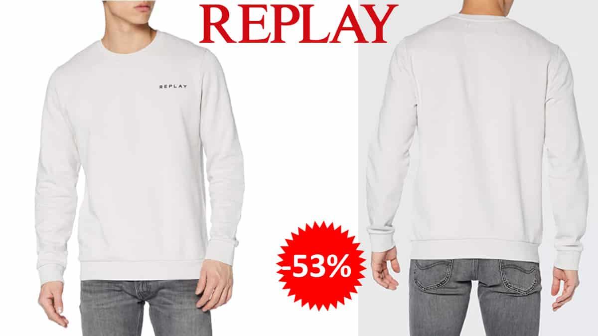 Sudadera Replay barata, sudaderas de marca baratas, ofertas en ropa de marca, chollo