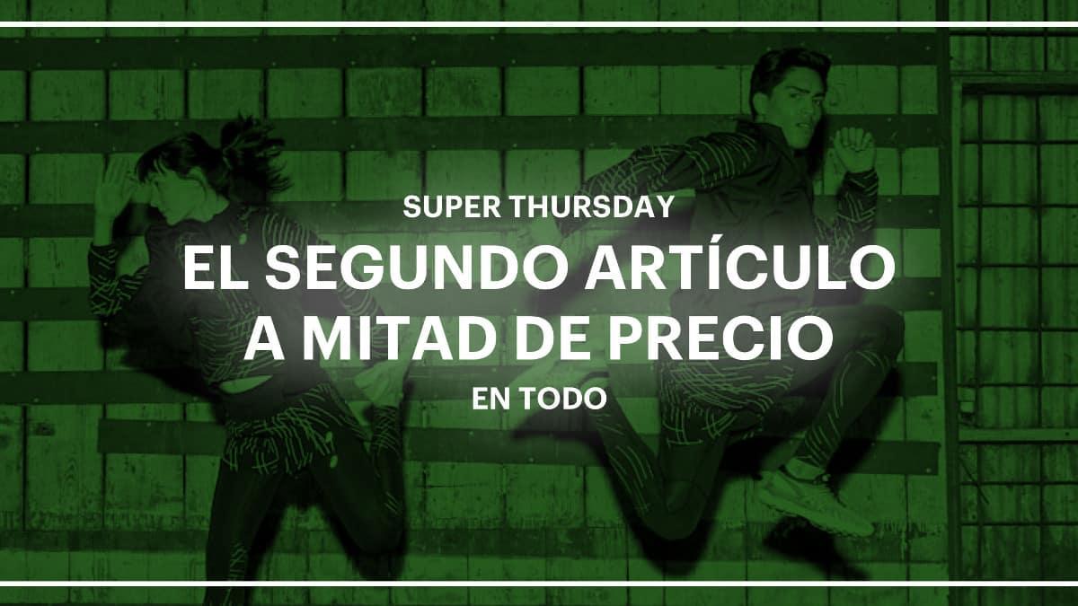 Super Thursday en Asics Outlet, ropa de marca barata, chollo