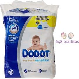 Toallitas para bebé Dodot Sensitive baratas, toallitas bebé de marca baratas, ofertas supermercado