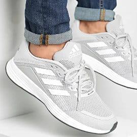 Zapatillas Adidas Duramo SL grises baratas, calzado barato, ofertas en zapatillas