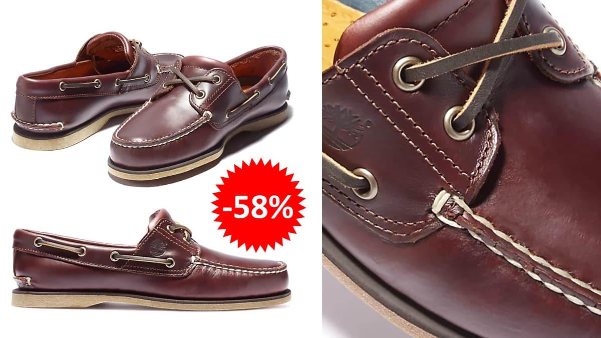 Zapatos náuticos Timberland Classic Boat 2 Eye baratos, calzado de marca barato, ofertas en zapatos chollo