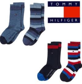 calcetines Tommy Hilfiger Stripes para niños baratos, calcetines de marca baratos, ofertas en ropa para niño