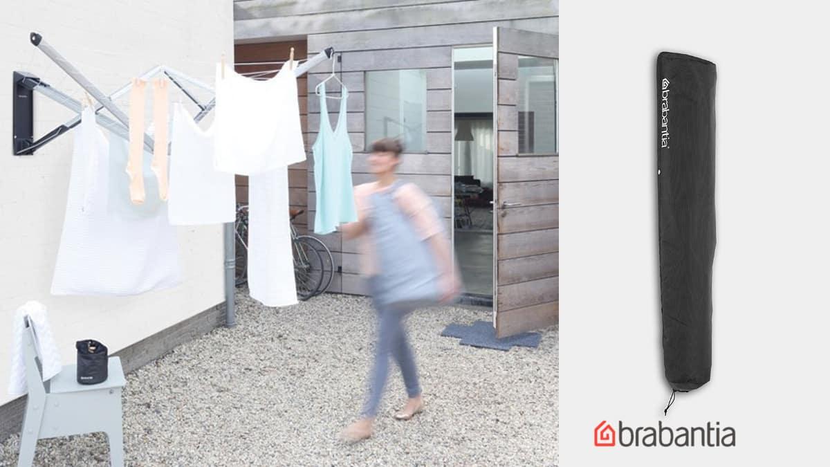 tendedero plegable con funda Brabantia WallFix barato, tendederos de marca baratos, ofertas hogar, chollo