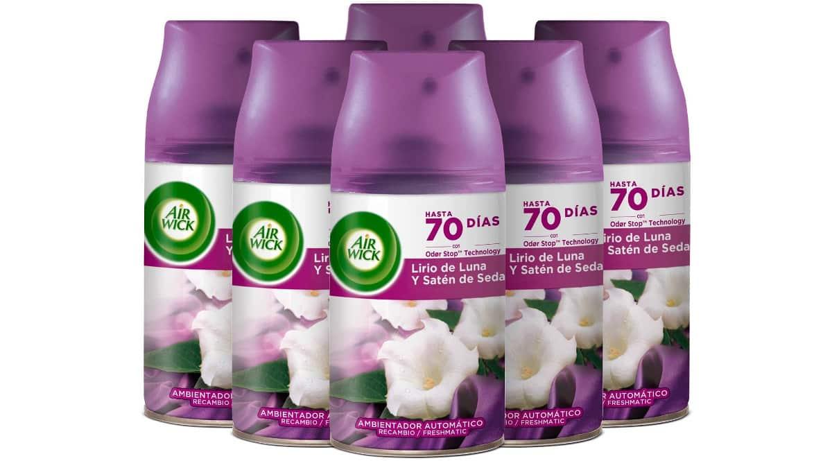 6 Recambios Ambientador Air Wick Freshmatic Lirio baratos, ambientadores baratos, ofertas para la casa chollo