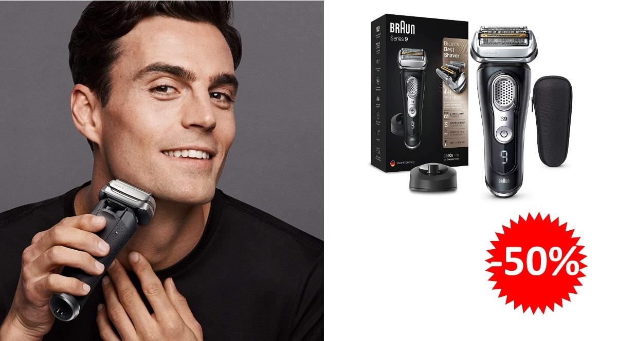 Afeitadora Braun Series 9 9340s barata, afeitadoras de marca baratas, ofertas cuidado personal, chollo