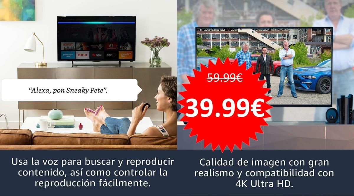 Amazon Fire TV Stick 4K barato. Ofertas en Fire TV Stick, Fire TV Stick barato, chollo
