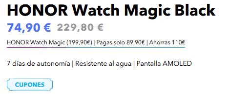 Aplicación cupón Honor Watch Magic