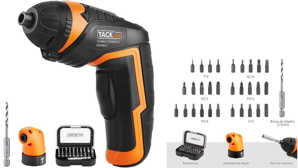 Atornillador - destornillador TACKLIFE SDP51DC barato, herramientas de marca baratas, ofertas en herramientas, chollo