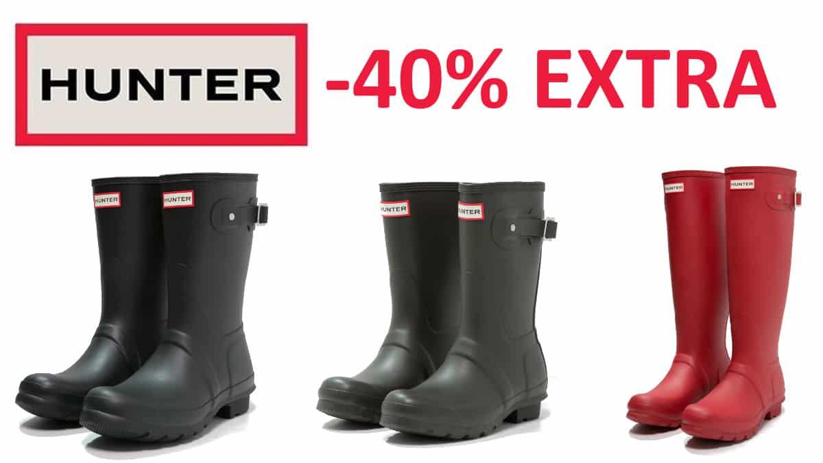 Botas Hunter baratas, calzado de marca barato, ofertas en calzado chollo