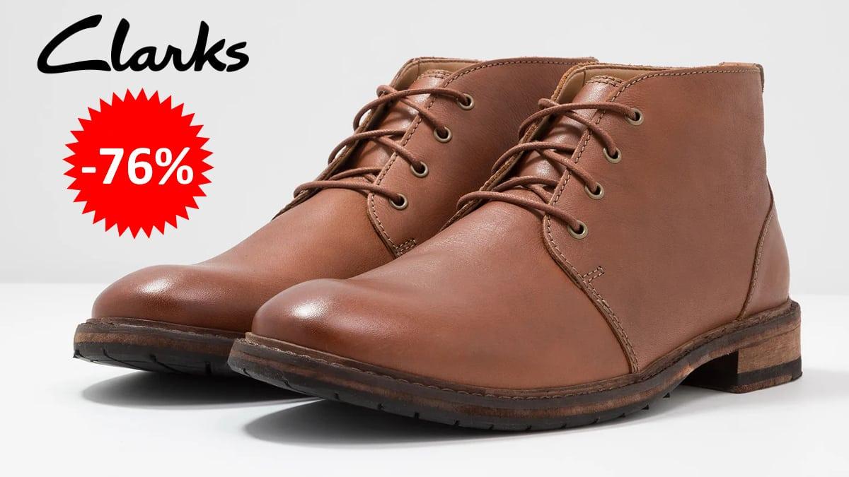 Botines Clarks Clarkdale Base baratos, calzado de marca barato, ofertas en calzado chollo