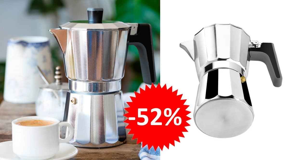 ¡Precio mínimo histórico! Cafetera italiana Bra Perfecta 9 tazas sólo 12.20 euros. 52% de descuento.