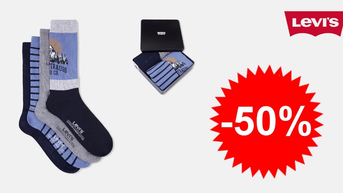 Calcetines Levi's Mountain baratos, calcetines de marca baratos, ofertas en ropa