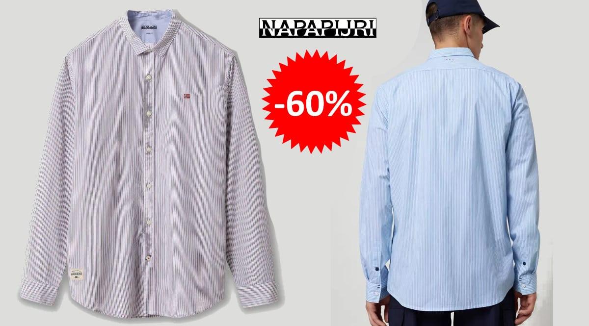 Camisa Napapijri Gode barata, ropa de marca barata, ofertas en camisas chollo