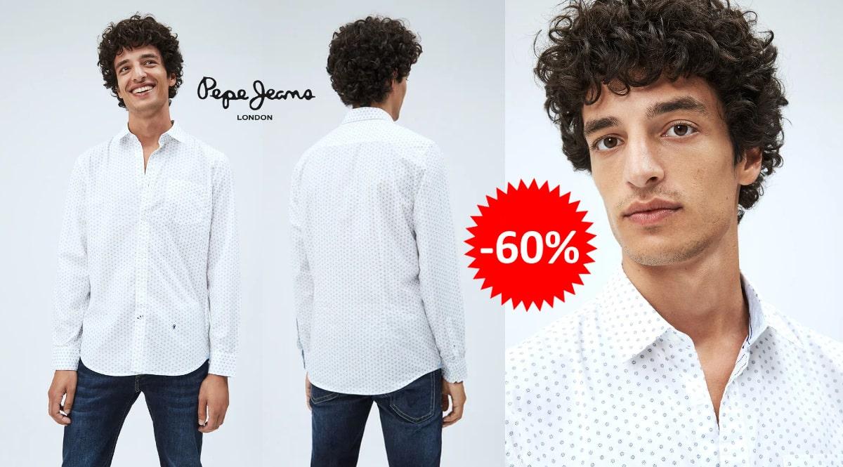 Camisa Pepe Jeans Avon barata, ropa de marca barata, ofertas en camisas chollo