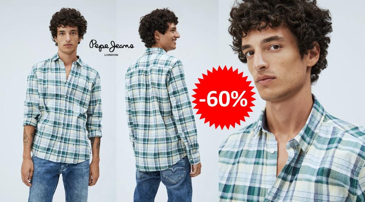 Camisa Pepe Jeans Brookthorpe barata, ropa de marca barata, ofertas en camisas chollo