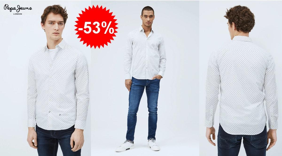 Camisa Pepe Jeans Edmonton barata, camisas de marca baratas, ofertas en ropa, chollo