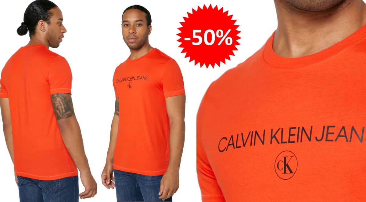Camiseta Calvin Klein Archive Logo barata, ropa de marca barata, ofertas en camisetas chollo