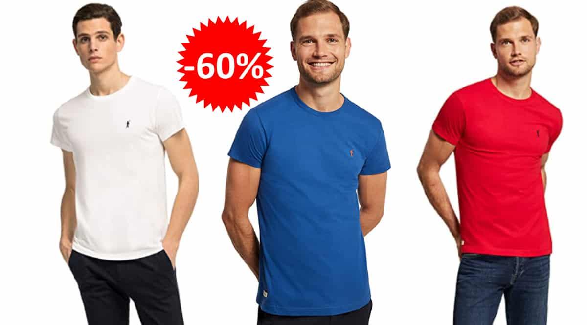 Camiseta básica Polo Club manga corta, camsietas de marca baratas, ofertas en ropa, chollo